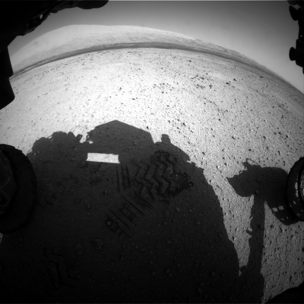 Nasa's Mars rover Curiosity acquired this image using its Front Hazard Avoidance Camera (Front Hazcam) on Sol 413, at drive 422, site number 18