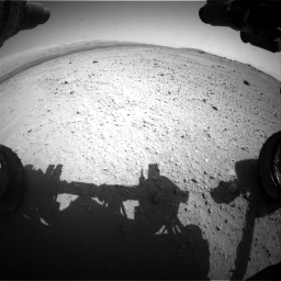 Nasa's Mars rover Curiosity acquired this image using its Front Hazard Avoidance Camera (Front Hazcam) on Sol 413, at drive 222, site number 18