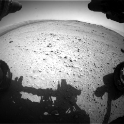 Nasa's Mars rover Curiosity acquired this image using its Front Hazard Avoidance Camera (Front Hazcam) on Sol 413, at drive 258, site number 18