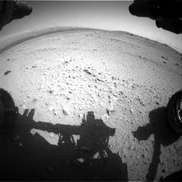 Nasa's Mars rover Curiosity acquired this image using its Front Hazard Avoidance Camera (Front Hazcam) on Sol 413, at drive 276, site number 18