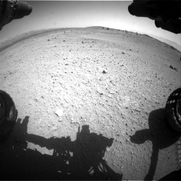 Nasa's Mars rover Curiosity acquired this image using its Front Hazard Avoidance Camera (Front Hazcam) on Sol 413, at drive 312, site number 18