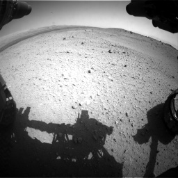 Nasa's Mars rover Curiosity acquired this image using its Front Hazard Avoidance Camera (Front Hazcam) on Sol 413, at drive 330, site number 18