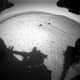 Nasa's Mars rover Curiosity acquired this image using its Front Hazard Avoidance Camera (Front Hazcam) on Sol 413, at drive 378, site number 18