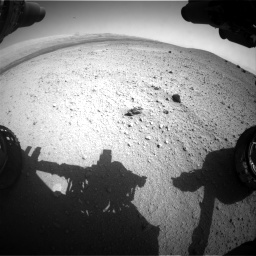 Nasa's Mars rover Curiosity acquired this image using its Front Hazard Avoidance Camera (Front Hazcam) on Sol 413, at drive 384, site number 18