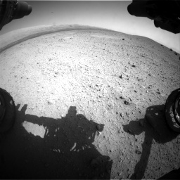 Nasa's Mars rover Curiosity acquired this image using its Front Hazard Avoidance Camera (Front Hazcam) on Sol 413, at drive 390, site number 18