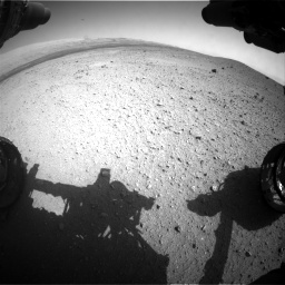 Nasa's Mars rover Curiosity acquired this image using its Front Hazard Avoidance Camera (Front Hazcam) on Sol 413, at drive 402, site number 18