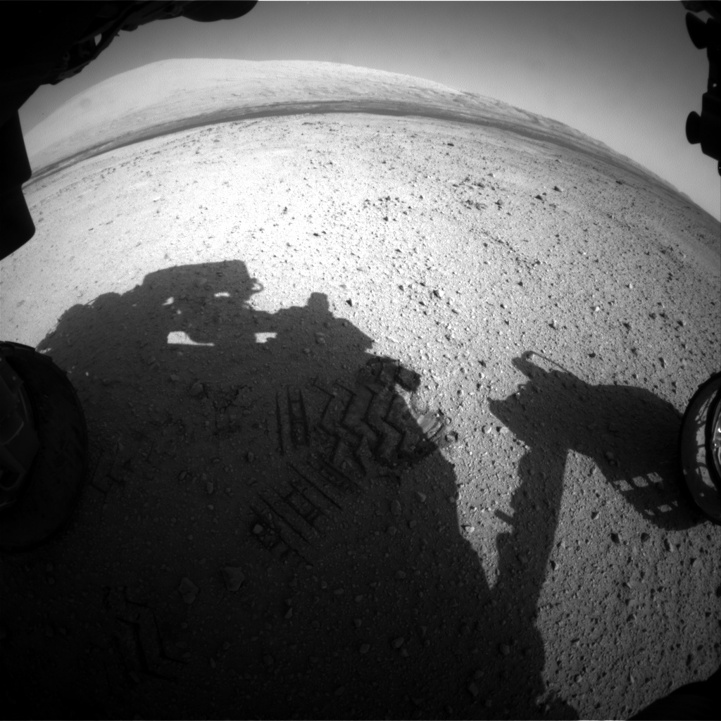 NASA's Mars rover Curiosity acquired this image using its Front Hazard Avoidance Cameras (Front Hazcams) on Sol 415