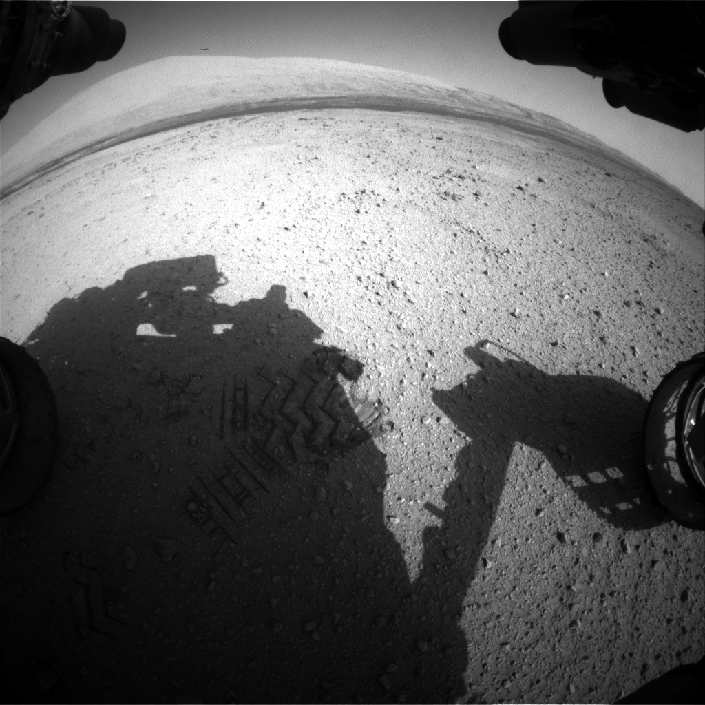 Nasa's Mars rover Curiosity acquired this image using its Front Hazard Avoidance Camera (Front Hazcam) on Sol 415, at drive 422, site number 18