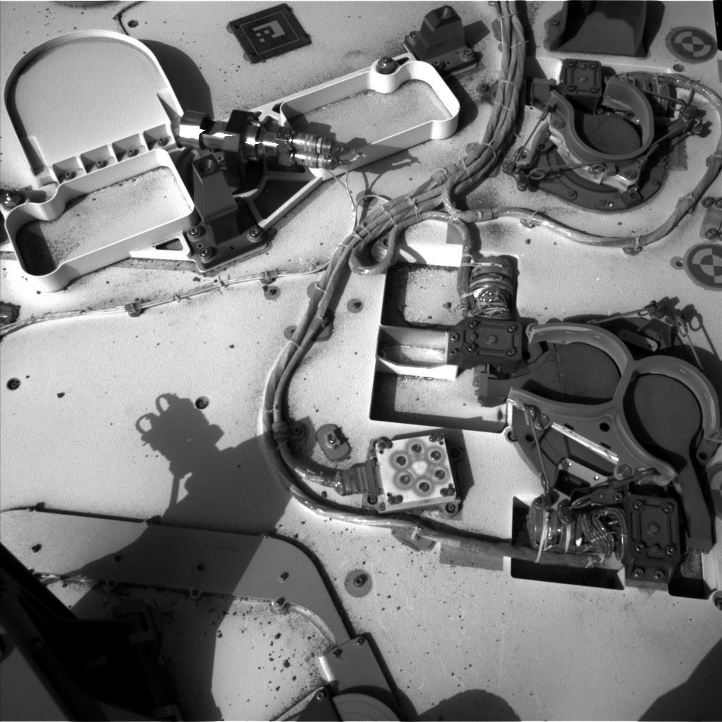 Nasa's Mars rover Curiosity acquired this image using its Left Navigation Camera on Sol 415, at drive 422, site number 18