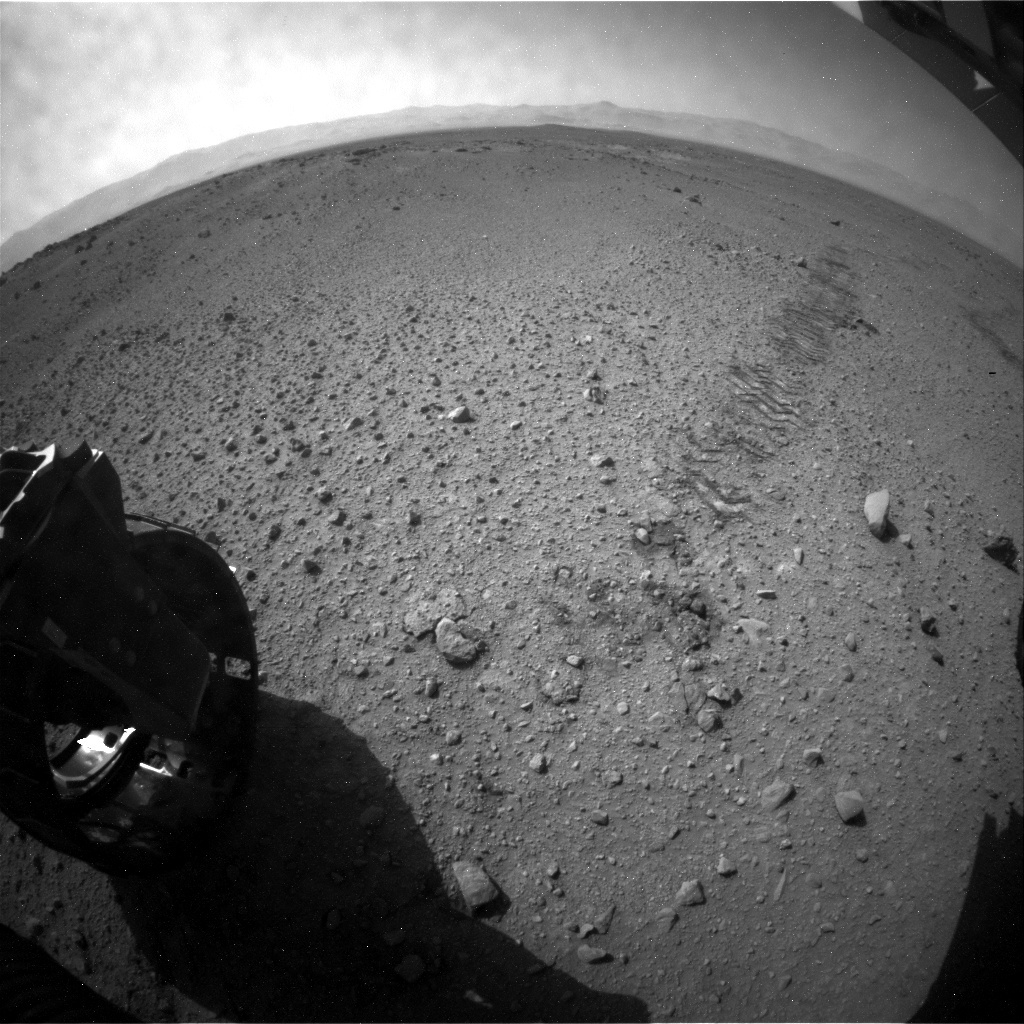 NASA's Mars rover Curiosity acquired this image using its Rear Hazard Avoidance Cameras (Rear Hazcams) on Sol 415
