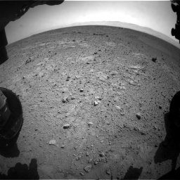 Nasa's Mars rover Curiosity acquired this image using its Front Hazard Avoidance Camera (Front Hazcam) on Sol 417, at drive 686, site number 18