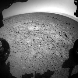 Nasa's Mars rover Curiosity acquired this image using its Front Hazard Avoidance Camera (Front Hazcam) on Sol 417, at drive 722, site number 18