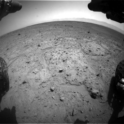 Nasa's Mars rover Curiosity acquired this image using its Front Hazard Avoidance Camera (Front Hazcam) on Sol 417, at drive 680, site number 18