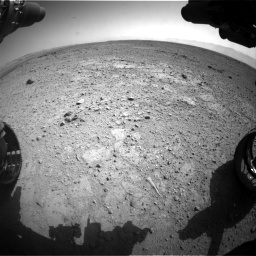 Nasa's Mars rover Curiosity acquired this image using its Front Hazard Avoidance Camera (Front Hazcam) on Sol 417, at drive 704, site number 18