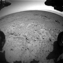Nasa's Mars rover Curiosity acquired this image using its Front Hazard Avoidance Camera (Front Hazcam) on Sol 417, at drive 740, site number 18