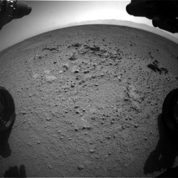 Nasa's Mars rover Curiosity acquired this image using its Front Hazard Avoidance Camera (Front Hazcam) on Sol 417, at drive 758, site number 18