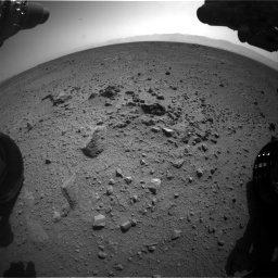 Nasa's Mars rover Curiosity acquired this image using its Front Hazard Avoidance Camera (Front Hazcam) on Sol 417, at drive 764, site number 18