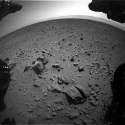 Nasa's Mars rover Curiosity acquired this image using its Front Hazard Avoidance Camera (Front Hazcam) on Sol 417, at drive 770, site number 18