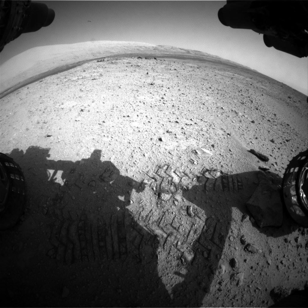 Nasa's Mars rover Curiosity acquired this image using its Front Hazard Avoidance Camera (Front Hazcam) on Sol 417, at drive 786, site number 18