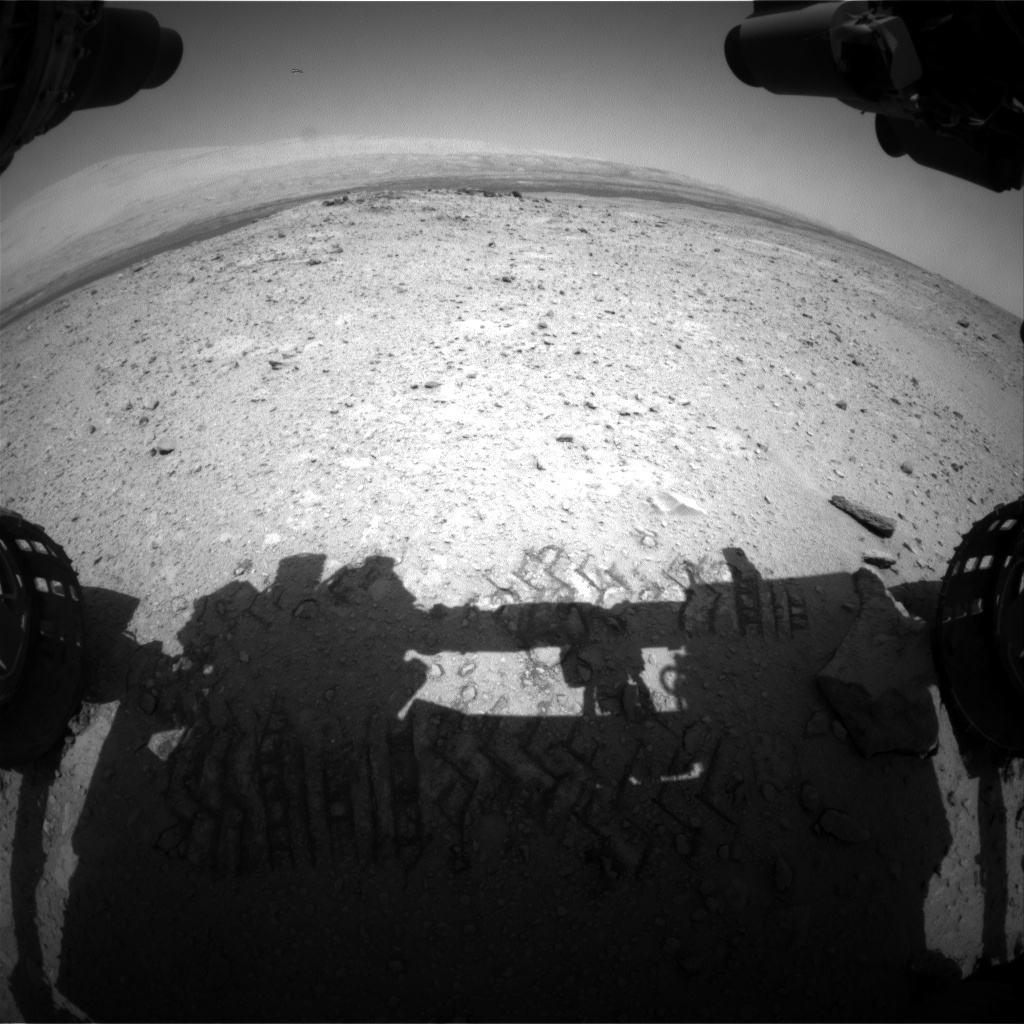 NASA's Mars rover Curiosity acquired this image using its Front Hazard Avoidance Cameras (Front Hazcams) on Sol 418