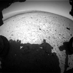 Nasa's Mars rover Curiosity acquired this image using its Front Hazard Avoidance Camera (Front Hazcam) on Sol 419, at drive 1152, site number 18