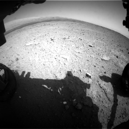 Nasa's Mars rover Curiosity acquired this image using its Front Hazard Avoidance Camera (Front Hazcam) on Sol 419, at drive 1206, site number 18