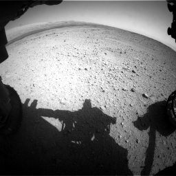 Nasa's Mars rover Curiosity acquired this image using its Front Hazard Avoidance Camera (Front Hazcam) on Sol 419, at drive 1242, site number 18