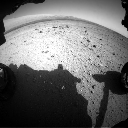Nasa's Mars rover Curiosity acquired this image using its Front Hazard Avoidance Camera (Front Hazcam) on Sol 419, at drive 1332, site number 18