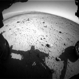 Nasa's Mars rover Curiosity acquired this image using its Front Hazard Avoidance Camera (Front Hazcam) on Sol 419, at drive 1350, site number 18