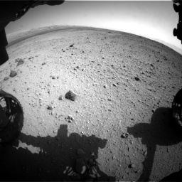 Nasa's Mars rover Curiosity acquired this image using its Front Hazard Avoidance Camera (Front Hazcam) on Sol 419, at drive 1374, site number 18