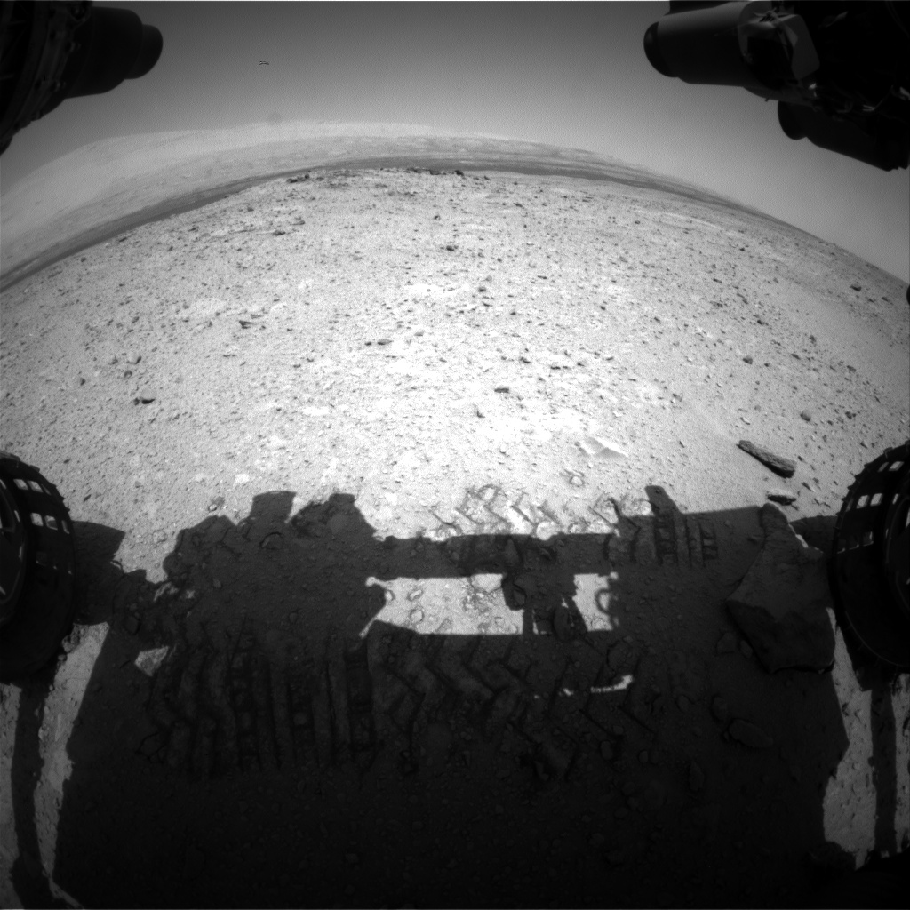 Nasa's Mars rover Curiosity acquired this image using its Front Hazard Avoidance Camera (Front Hazcam) on Sol 419, at drive 786, site number 18