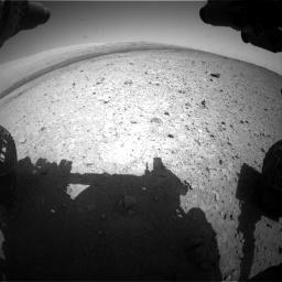 Nasa's Mars rover Curiosity acquired this image using its Front Hazard Avoidance Camera (Front Hazcam) on Sol 419, at drive 1146, site number 18