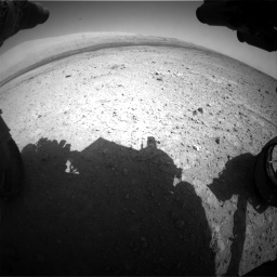 Nasa's Mars rover Curiosity acquired this image using its Front Hazard Avoidance Camera (Front Hazcam) on Sol 419, at drive 1170, site number 18
