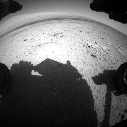 Nasa's Mars rover Curiosity acquired this image using its Front Hazard Avoidance Camera (Front Hazcam) on Sol 419, at drive 1188, site number 18