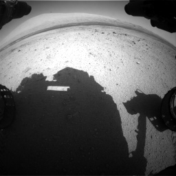 Nasa's Mars rover Curiosity acquired this image using its Front Hazard Avoidance Camera (Front Hazcam) on Sol 419, at drive 1296, site number 18
