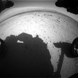 Nasa's Mars rover Curiosity acquired this image using its Front Hazard Avoidance Camera (Front Hazcam) on Sol 419, at drive 1314, site number 18