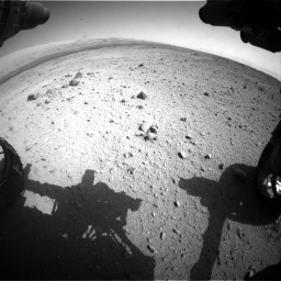 Nasa's Mars rover Curiosity acquired this image using its Front Hazard Avoidance Camera (Front Hazcam) on Sol 419, at drive 1362, site number 18