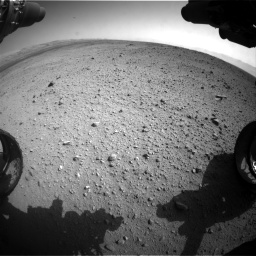 Nasa's Mars rover Curiosity acquired this image using its Front Hazard Avoidance Camera (Front Hazcam) on Sol 419, at drive 1386, site number 18