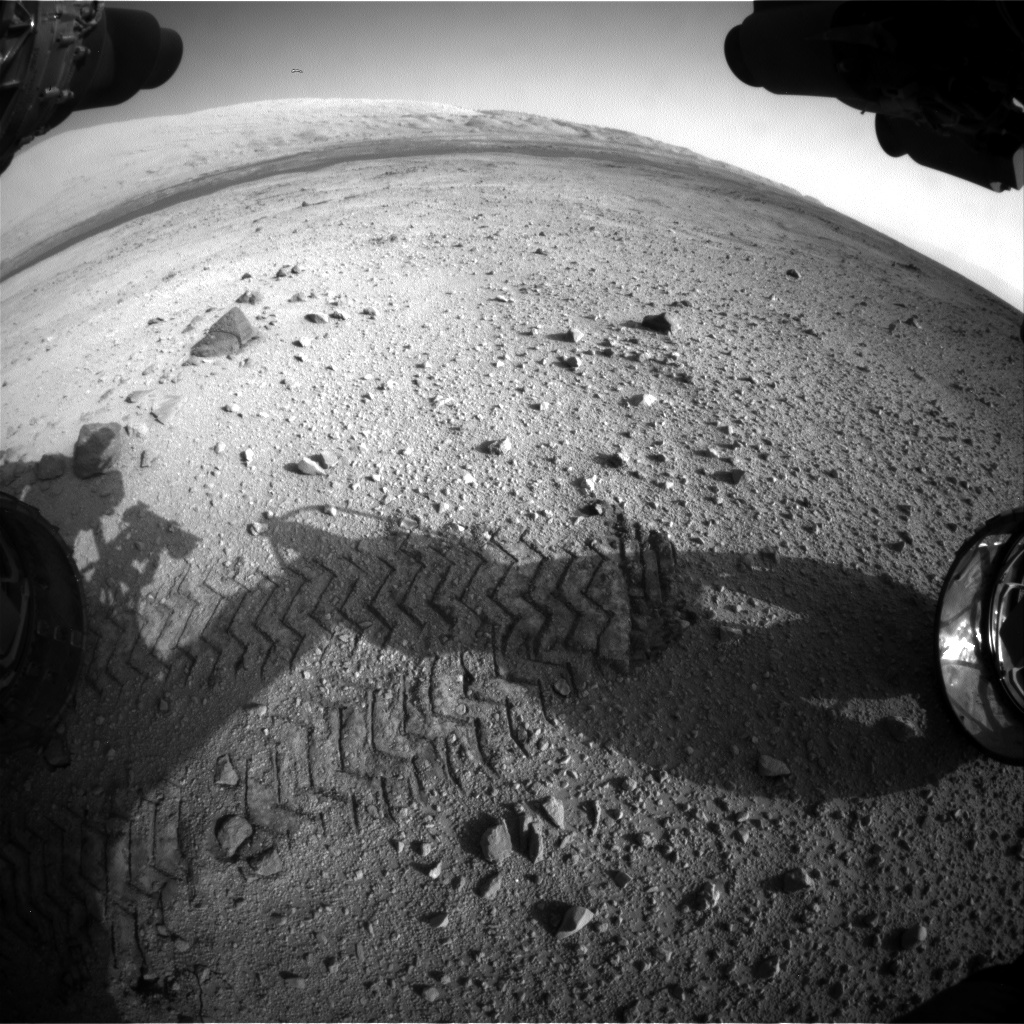 Nasa's Mars rover Curiosity acquired this image using its Front Hazard Avoidance Camera (Front Hazcam) on Sol 419, at drive 0, site number 19