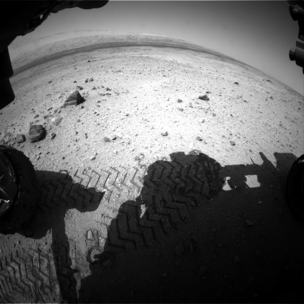 Nasa's Mars rover Curiosity acquired this image using its Front Hazard Avoidance Camera (Front Hazcam) on Sol 420, at drive 0, site number 19