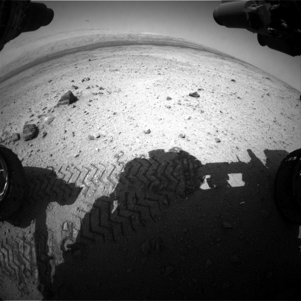 NASA's Mars rover Curiosity acquired this image using its Front Hazard Avoidance Cameras (Front Hazcams) on Sol 420