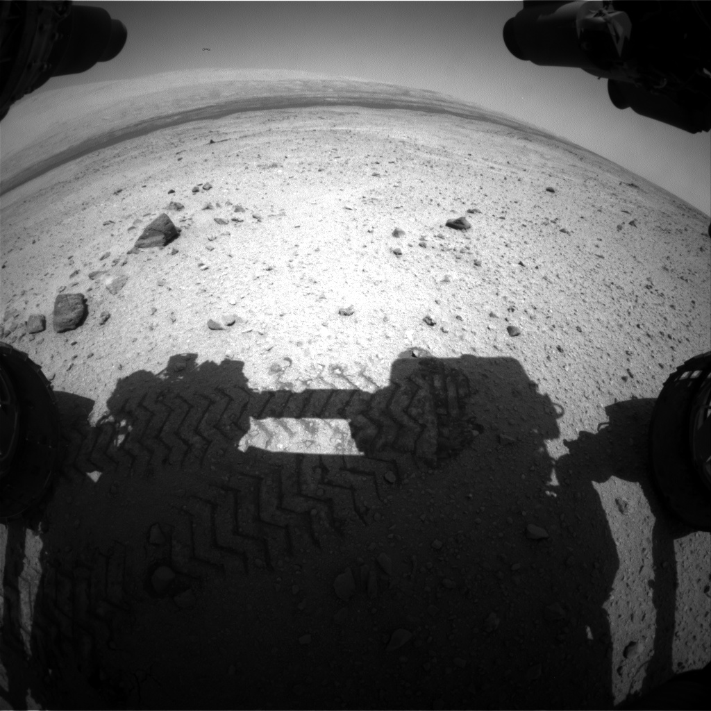 Nasa's Mars rover Curiosity acquired this image using its Front Hazard Avoidance Camera (Front Hazcam) on Sol 421, at drive 0, site number 19