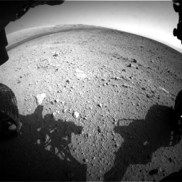 Nasa's Mars rover Curiosity acquired this image using its Front Hazard Avoidance Camera (Front Hazcam) on Sol 422, at drive 204, site number 19