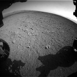 NASA's Mars rover Curiosity acquired this image using its Front Hazard Avoidance Cameras (Front Hazcams) on Sol 422