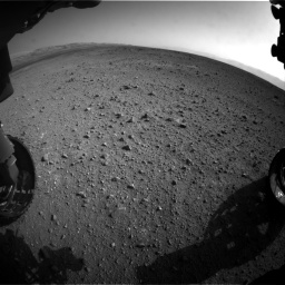 Nasa's Mars rover Curiosity acquired this image using its Front Hazard Avoidance Camera (Front Hazcam) on Sol 422, at drive 246, site number 19