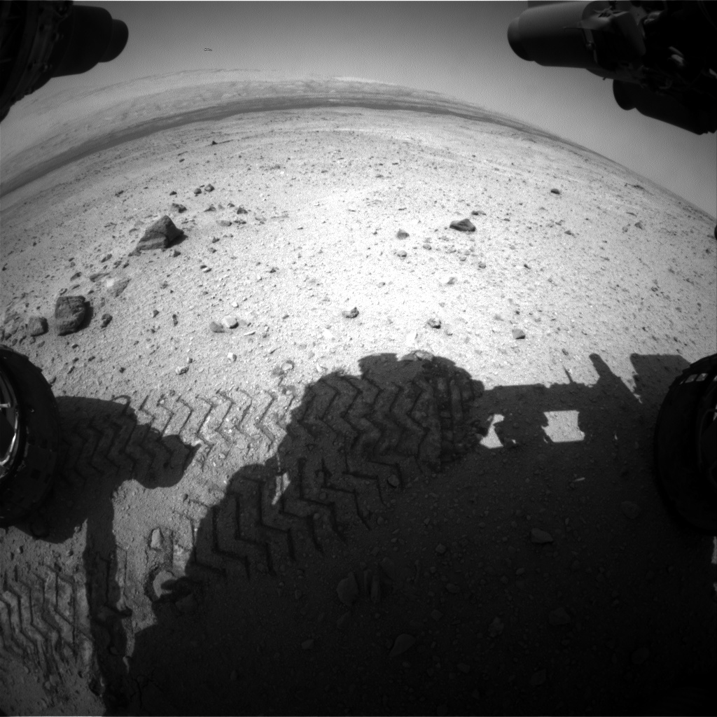Nasa's Mars rover Curiosity acquired this image using its Front Hazard Avoidance Camera (Front Hazcam) on Sol 422, at drive 0, site number 19