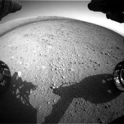Nasa's Mars rover Curiosity acquired this image using its Front Hazard Avoidance Camera (Front Hazcam) on Sol 422, at drive 210, site number 19