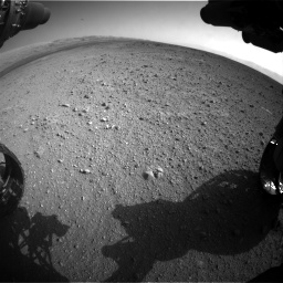 Nasa's Mars rover Curiosity acquired this image using its Front Hazard Avoidance Camera (Front Hazcam) on Sol 422, at drive 228, site number 19