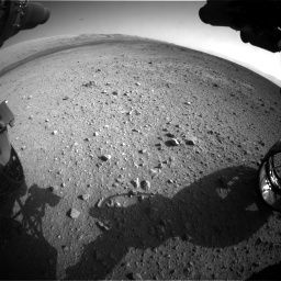 Nasa's Mars rover Curiosity acquired this image using its Front Hazard Avoidance Camera (Front Hazcam) on Sol 422, at drive 264, site number 19