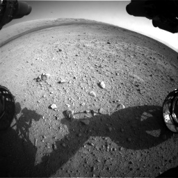 Nasa's Mars rover Curiosity acquired this image using its Front Hazard Avoidance Camera (Front Hazcam) on Sol 422, at drive 282, site number 19